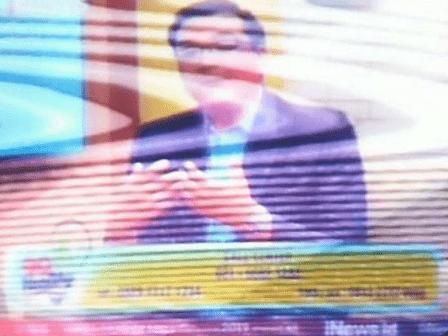 TV Cina Gambar Noise dan Bergelombang