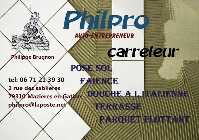 Carte de visite virtuelle de votre professionnel Philpro Carreleur 79