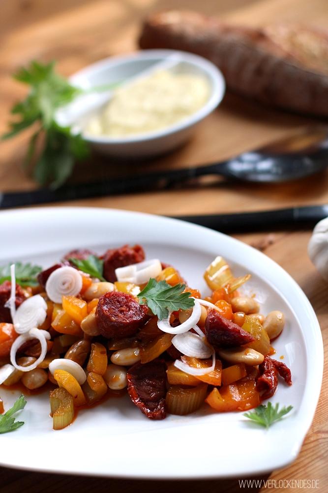 lauwarmer Chorizo Salat