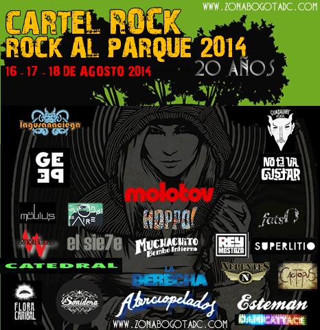Cartel de Rock Rock al parque 2014