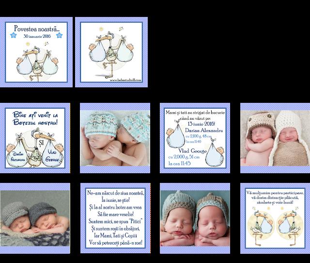 set botez gemeni bebelusi