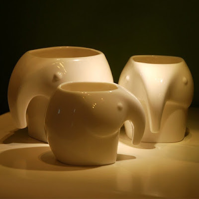 Elephant Ceramic Cup Set