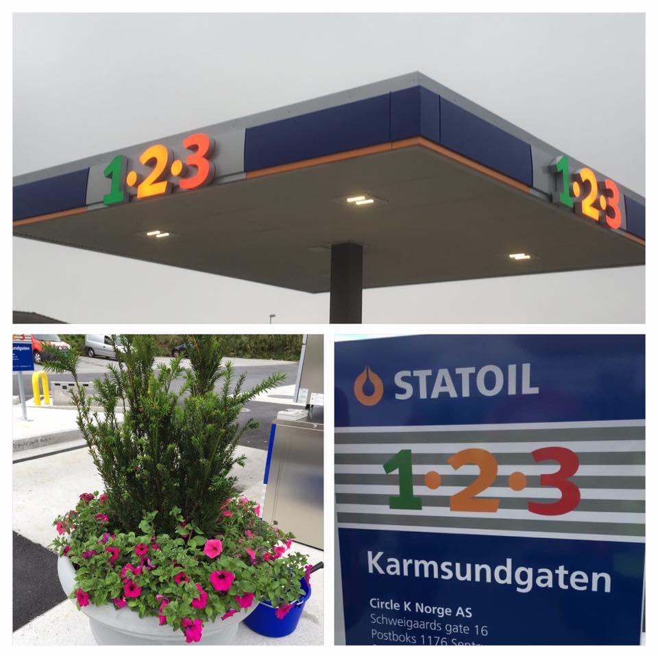 1-2-3 bensinstasjon Karmsundgaten