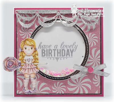PND Avery with Lollipop Birthday Shaker Card