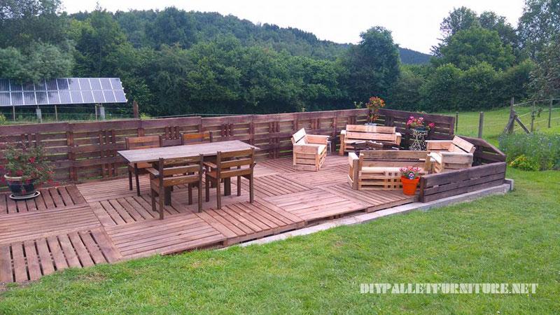 Mueblesdepaletsnet Super terraza con palets! - Terrazas Con Palets