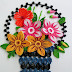 Paper Quilling Art | How to make Beautiful Flower basket