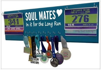 soul mates sole running race bibs medal display hanger holder rack