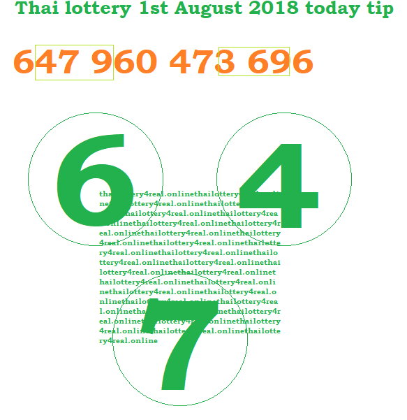 Thai lottery today VIP tip formula 4pc 1st August 2018