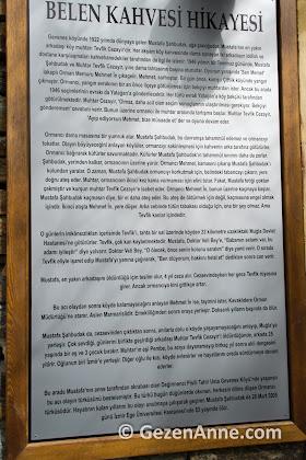 Belen kahvesi hikayesi, Gevenes (Çaybükü) köyü Muğla