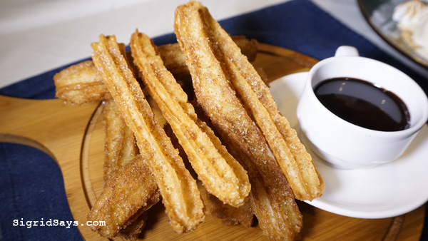 Bacolod restaurants - churros con chocolate - Chef Dan Altarejos