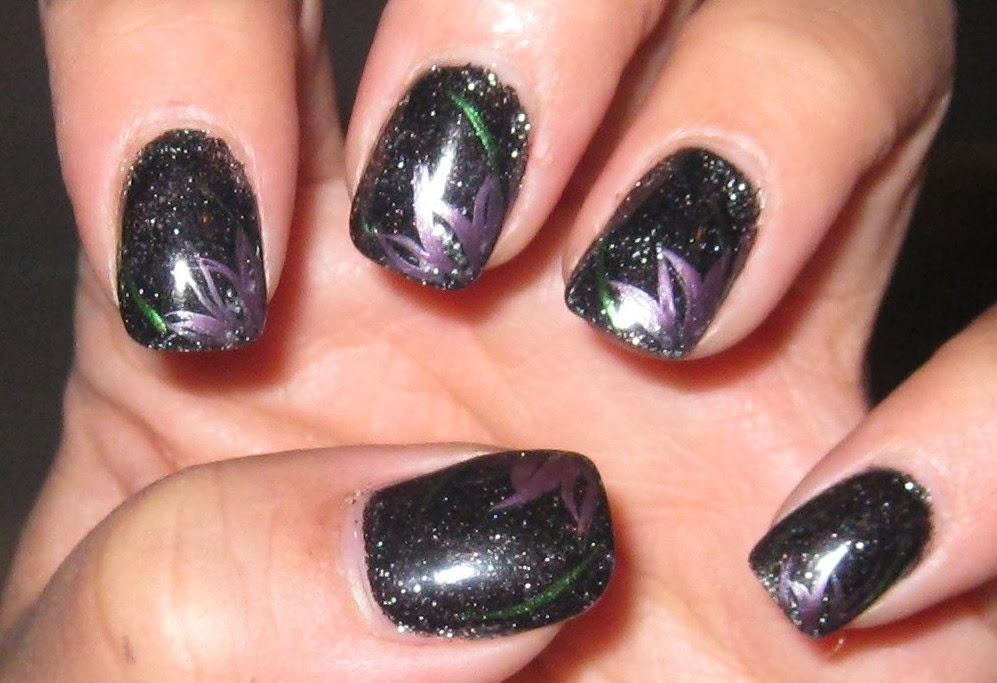 One Hundred Styles: Dark Nail Designs