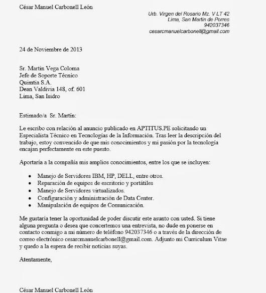 carta de presentacion de empresa