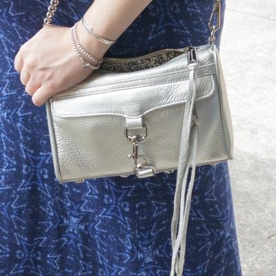 AwayFromTheBlue | Rebecca Minkoff metallic silver mini MAC