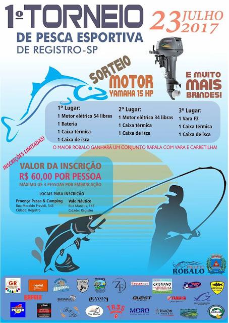 1º  Torneio de Pesca Esportiva de Registro-SP