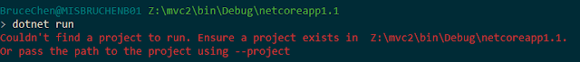 dotnet run error message