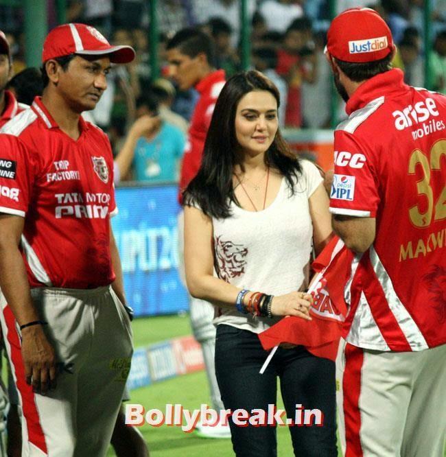 Preity Zinta and Glenn Maxwell, Priety Zinta IPL 2014 Pics