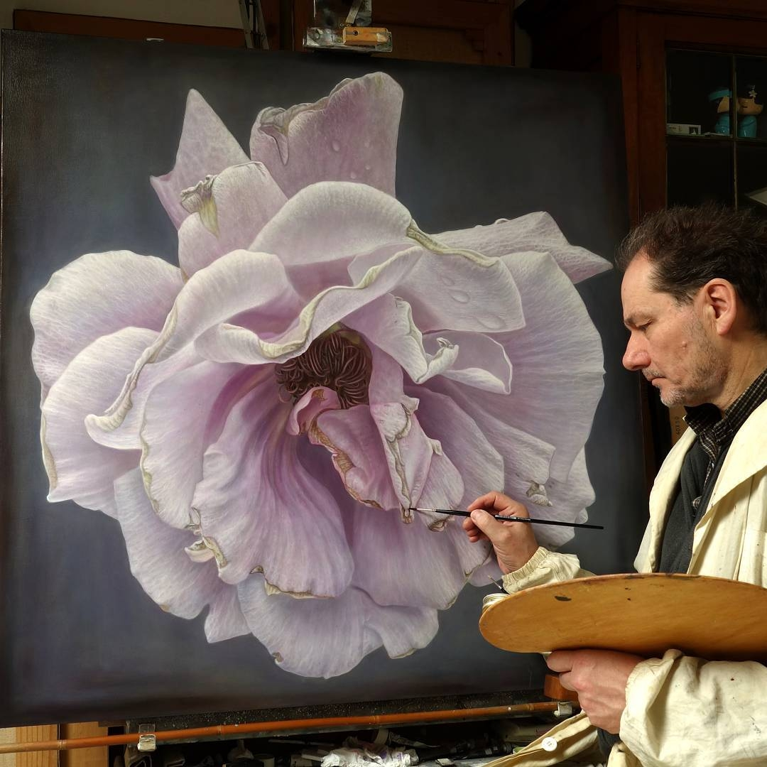 11-Gioacchino-Passini-Realistic-Paintings-of-Flowers-and-Roses-www-designstack-co