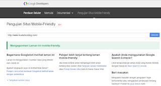 Cara Mengecek Situs Website dan Blog Mobile Friendly Atau Tidak