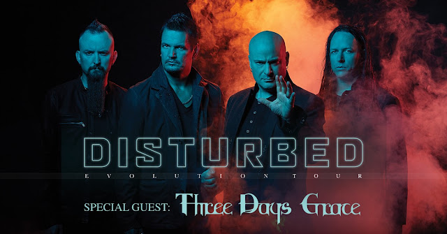 Disturbed with Three Days Grace Evolution Tour 2019
