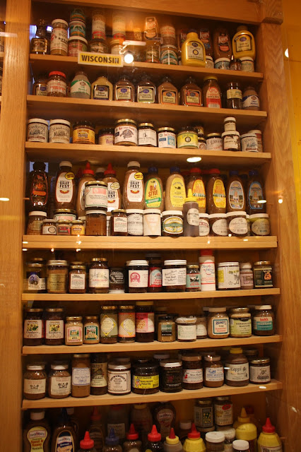 Huge collection of Wisconsin mustards at the National Mustard Museum in Middleton, Wisconsin