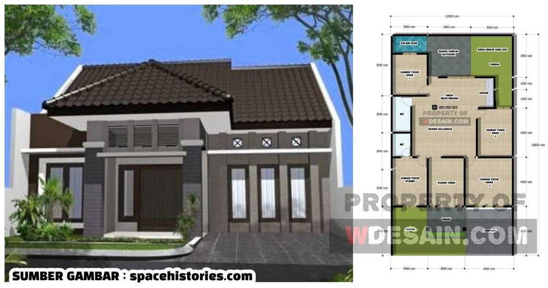 desain rumah modern 1 lantai 3 kamar tidur