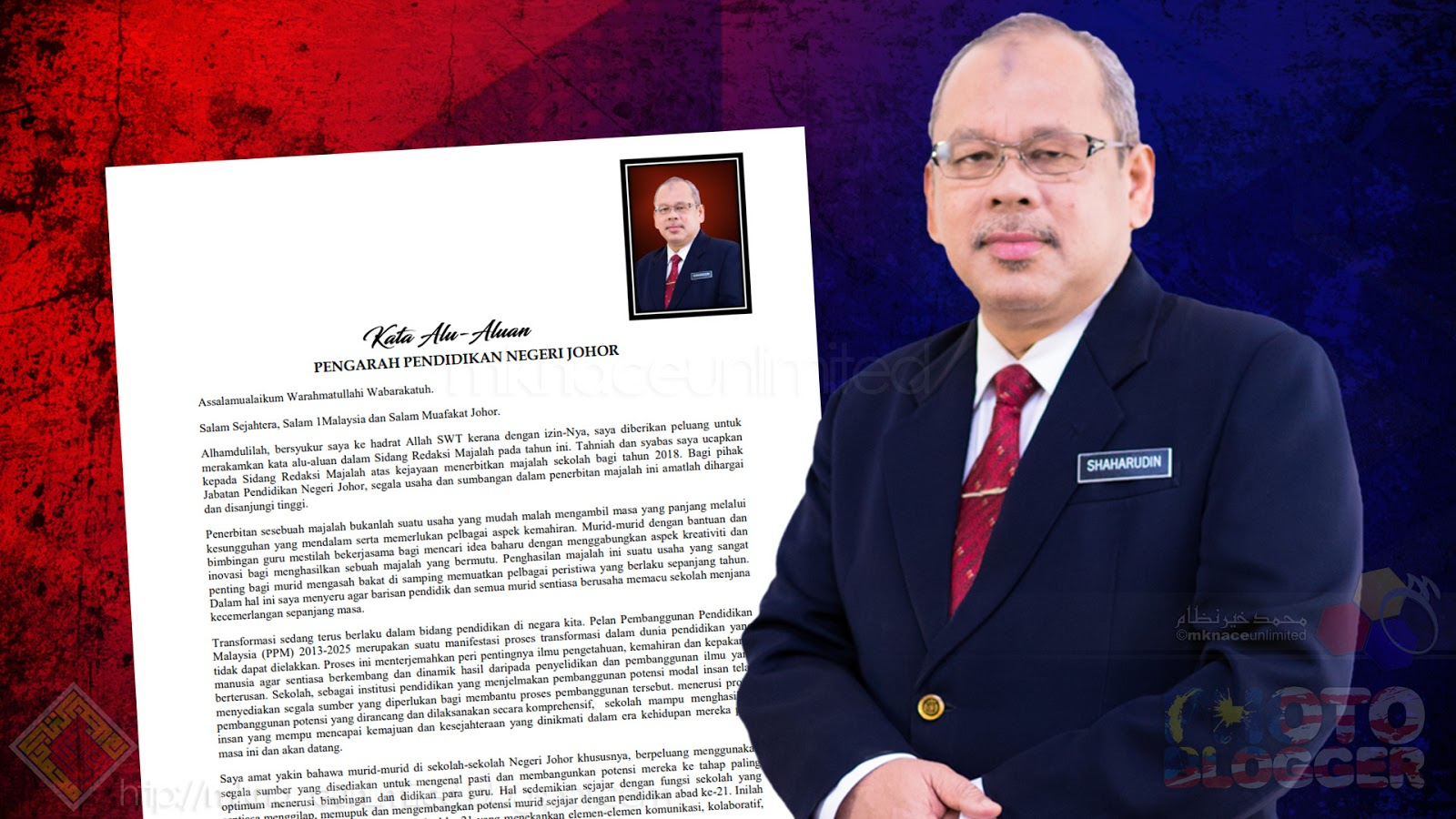 Kata Alu Aluan Majalah Sekolah 2018 Pengarah Pendidikan Negeri Johor