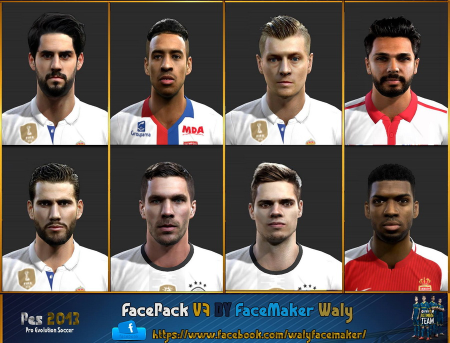PES 2013 facepack v7 by facemaker waly