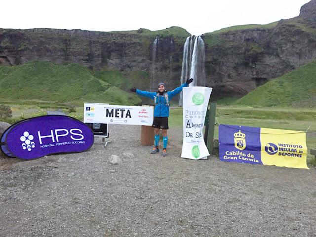 Marcos Yáñez consiguió correr 120 kilómetros en solitario contra la leucemia en Islandia