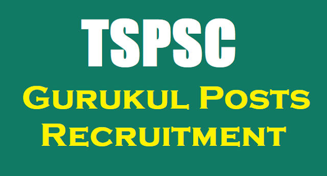 Revised Qualifications for TSPSC Gurukul PD,PET,Craft Teachers Recruitment 2017