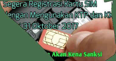 Dampak Registrasi Nomor Handphone