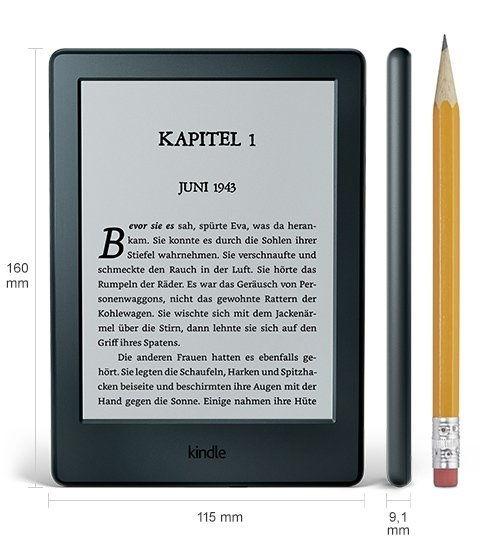 Kindle 8 – podstawowy czytnik Amazonu z ekranem E Ink Pearl, 800 x 600 pikseli