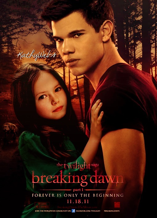 German Twilighters: Fanmade BD Poster - Renesmee & Jacob