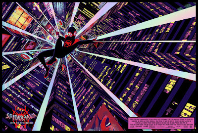 Spider-Man: Into the Spider-Verse Movie Poster Regular Foil Edition Screen Print by Raid71 x Grey Matter Art