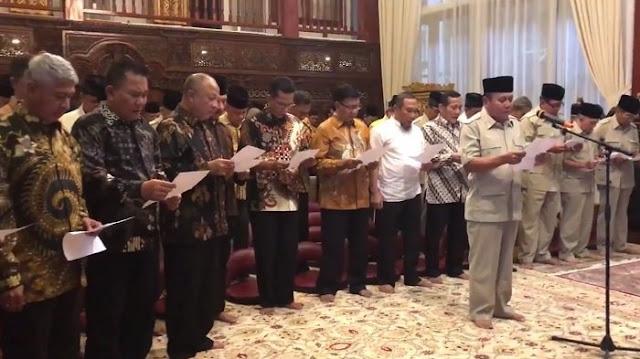 60 Jenderal Purnawirawan TNI Deklarasi Dukung Prabowo sebagai Presiden 2019