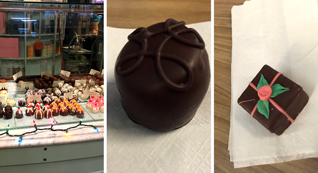 Creative truffles at petit fours at Lolli and Pops!