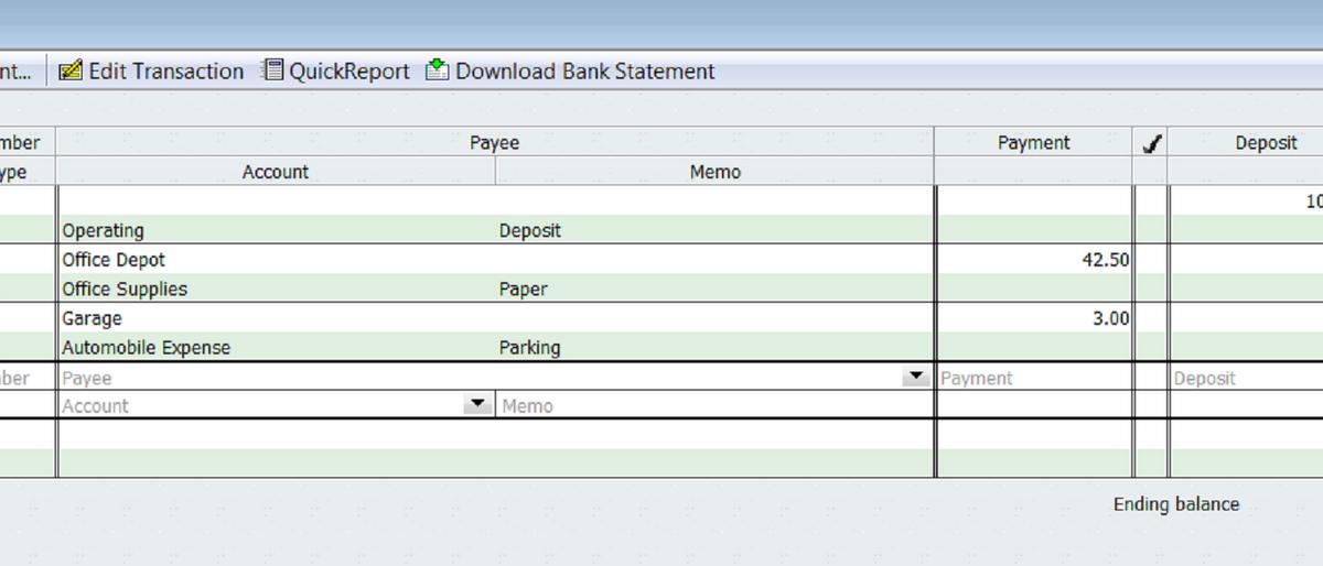 Lynette Benton: Recording Cash Transactions in QuickBooks