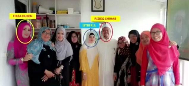 Firza kerap menghadiri pengajian yang diadakan Rizieq