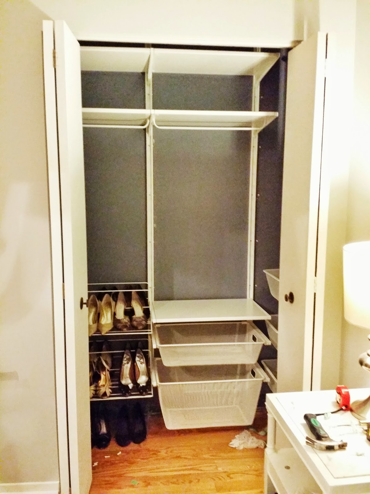 My perfectly organized closet system- Ikea's Algot system ...