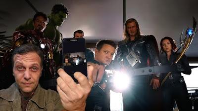 Selfie com os Vingadores