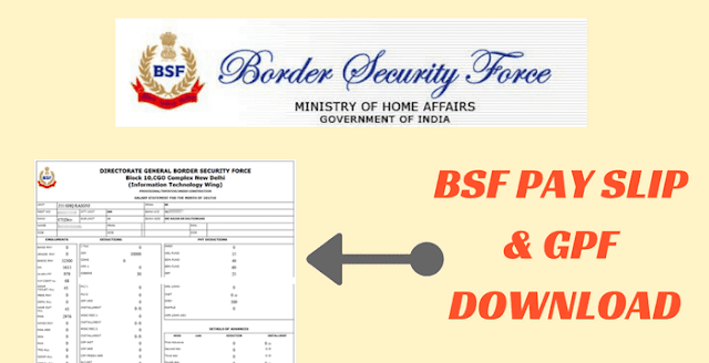 BSF Payslip Download Online bsf.nic.in BSF Mobile App