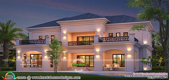Beautiful French Colonial model house in Kerala