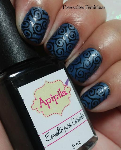 Frescurites Femininas, nail polish, esmalte, mate, matte, metalizado, apipila, carimbo