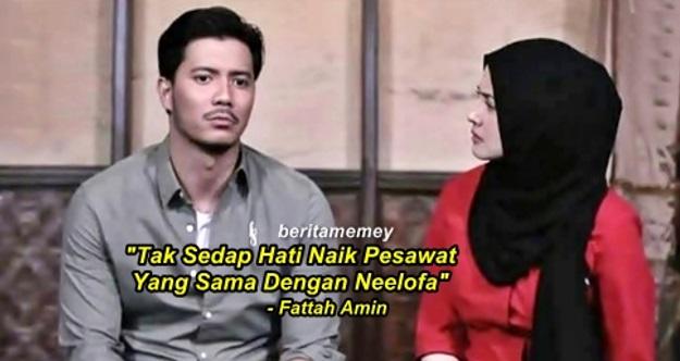 """""""Tak Sedap Hati Naik Pesawat Yang Sama Dengan Neelofa"""" - Fattah Amin"""