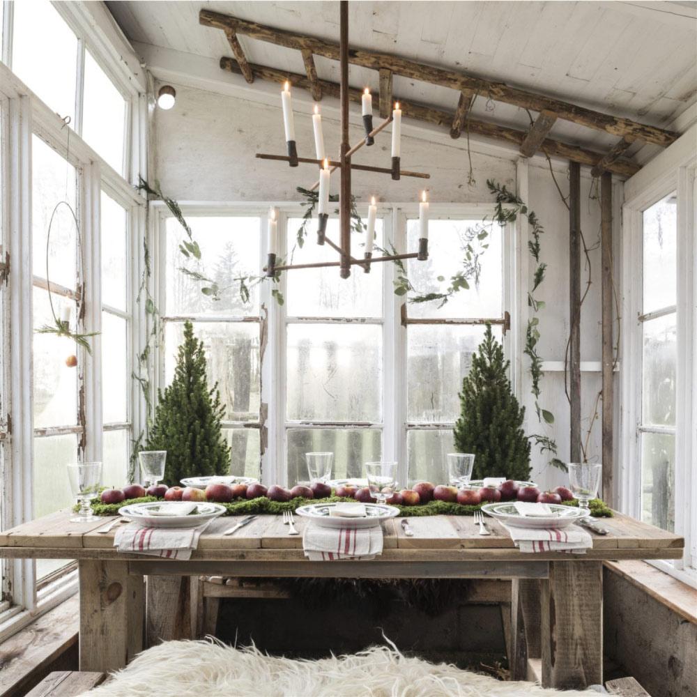 Il natale rustico chic nella casa di campagna blog di for Arredare casa in campagna
