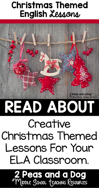 Ideas on how to celebrate the Christmas season in your middle school classroom.