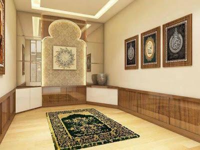 Desain Musholla Minimalis di Dalam Rumah