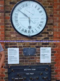 Cuadro de medidas oficiales británicas en el Royal Observatory