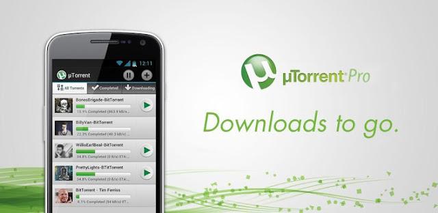 تحميل تطبيق µTorrent® Pro v3.15 النسخه المدفوعه للاندرويد