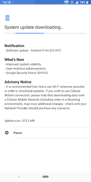 Nokia 7 plus receiving March 2019 Android Security update