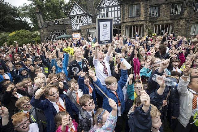Children broke world record for largest gathering of Harry Potters